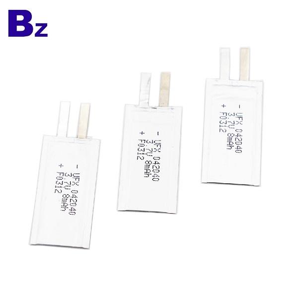 042040 8mAh 3.7V鋰聚合物電池
