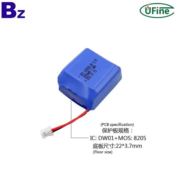 103030-2P 3.7V 2000mAh鋰聚合物電池
