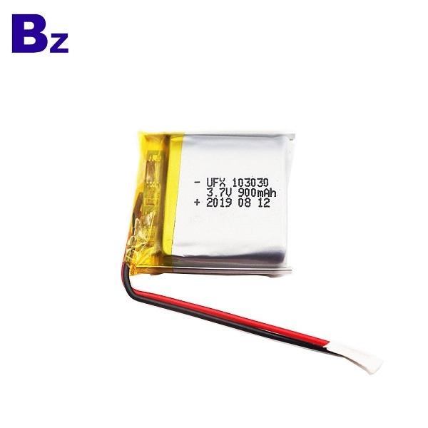 103030 900mAh 3.7V鋰聚合物電池