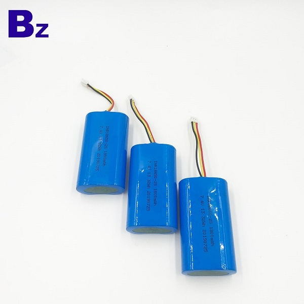 18650-2S 1800mAh 7.4V鋰離子電池