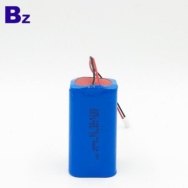 帶電線和插頭的3.7V鋰離子電池組