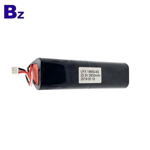 18650-6S 2600mAh 22.2V鋰離子電池