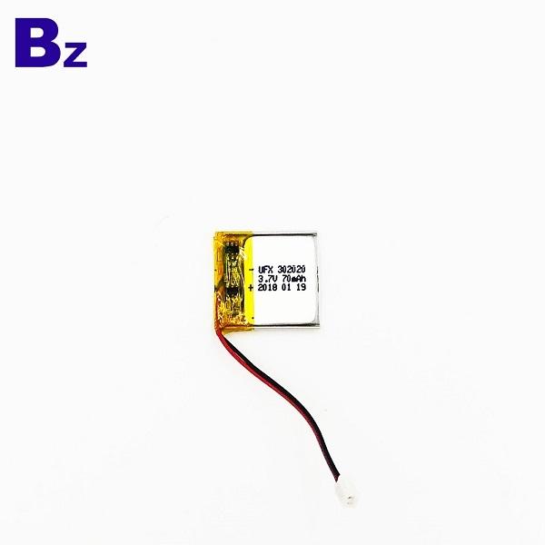 帶線和插頭的70mAh 鋰電池
