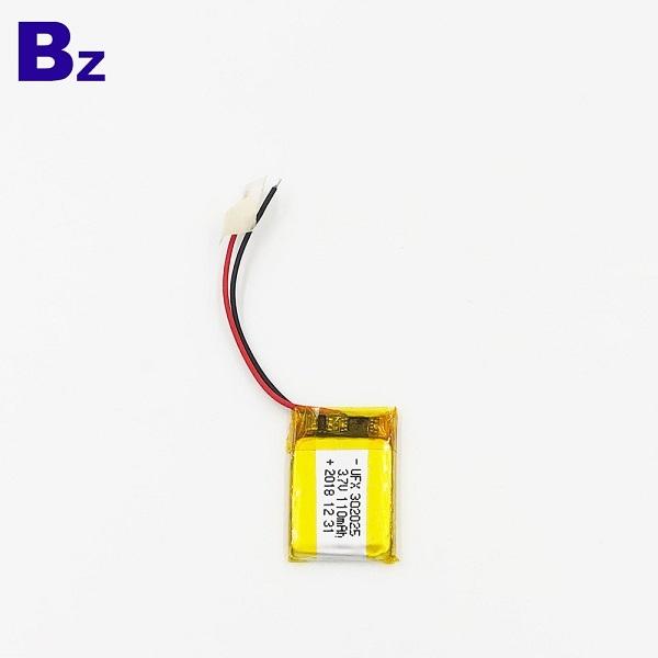 302025 110mAh 3.7V鋰聚合物電池
