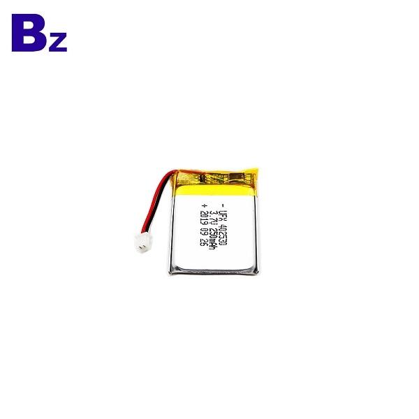 250mAh鋰聚合物電池,帶電線和插頭