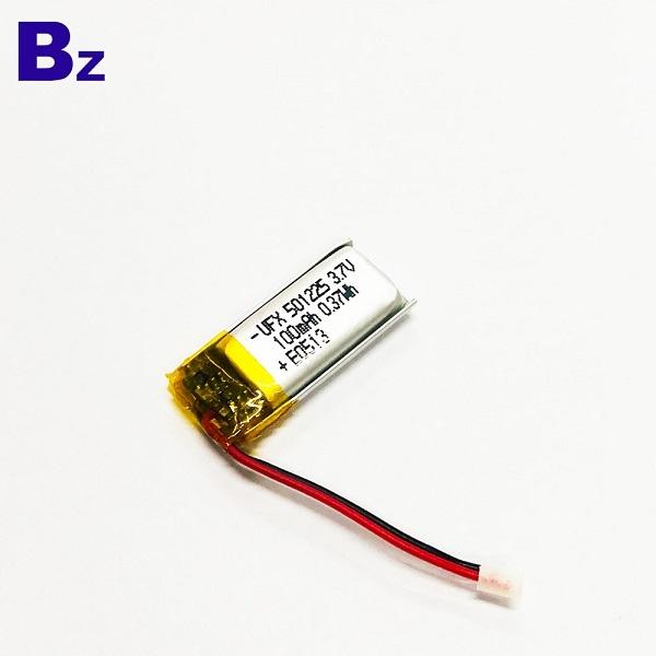 帶電線和插頭的100mAh鋰聚合物電池