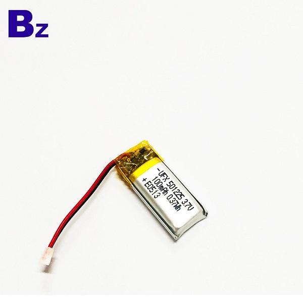 501225 100mAh 3.7V鋰聚合物電池