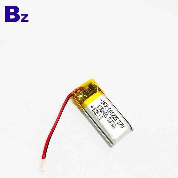 帶電線和插頭的3.7V鋰聚合物電池