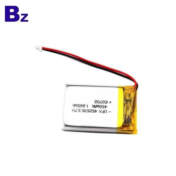 450mAh鋰聚合物電池,帶電線和插頭