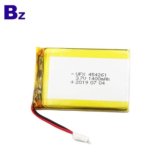 454261 1400mAh 3.7V鋰聚合物電池