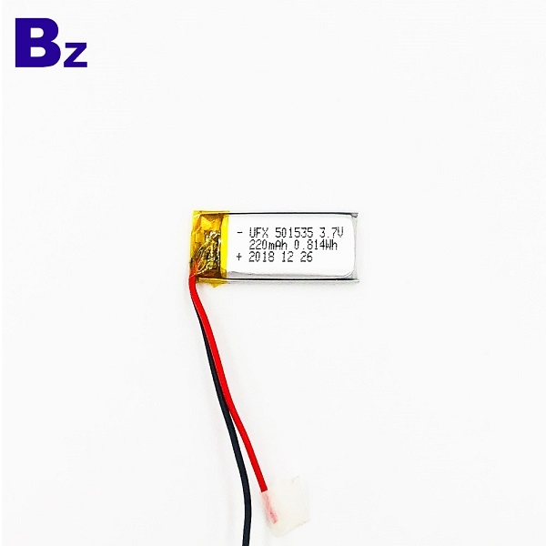 501535 220mAh 3.7V鋰聚合物電池