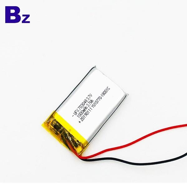 用於車載DVR設備的1000mAh電池