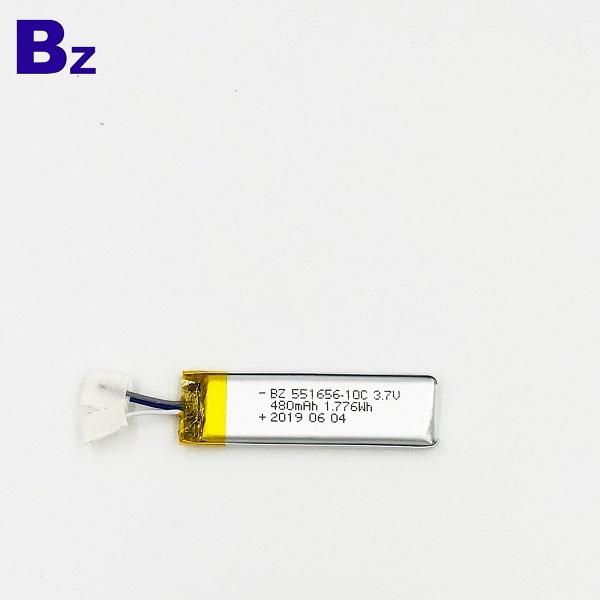 480mAh鋰聚合物電池