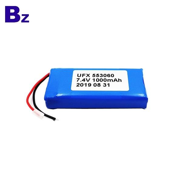 1000mAh 7.4V鋰聚合物電池