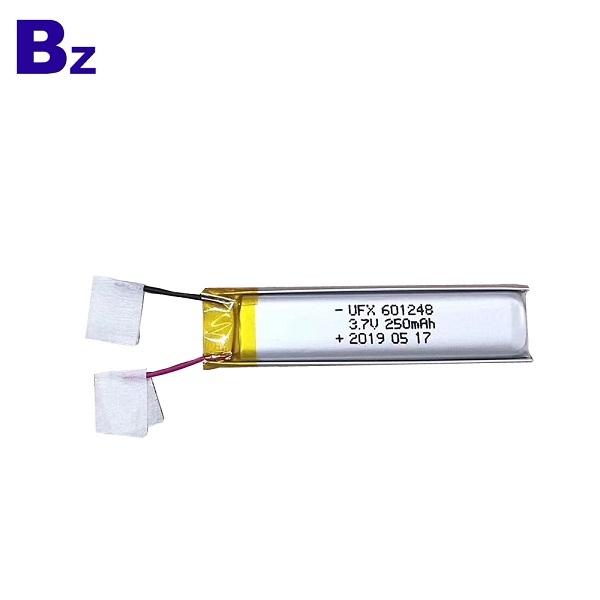 601248 250mAh 3.7V鋰聚合物電池