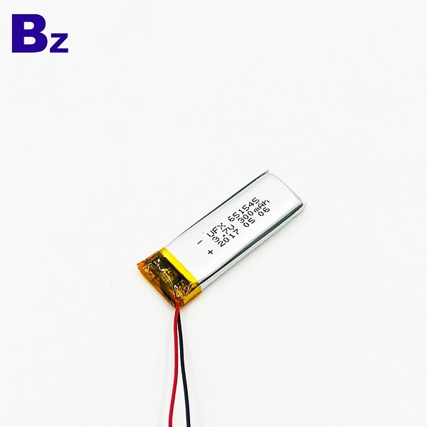 帶線的300mAh鋰聚合物電池