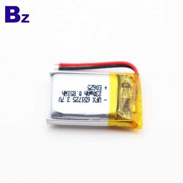 651725 230mAh 3.7V鋰電池