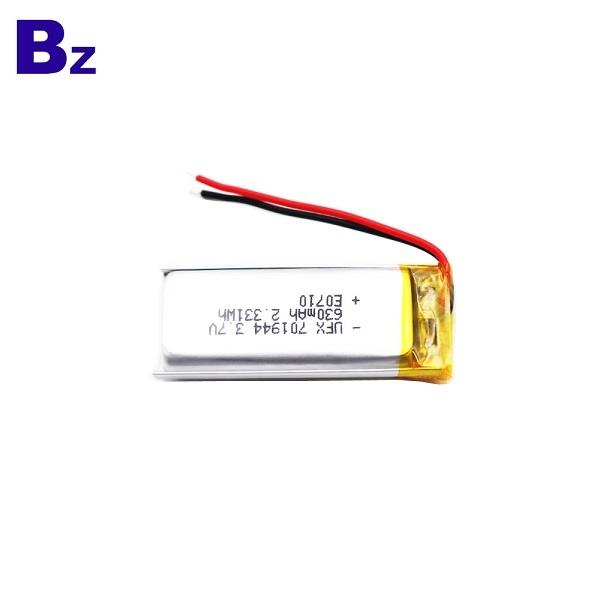 701944 630mAh 3.7V鋰聚合物電池