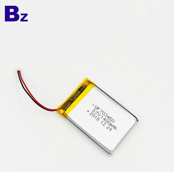 703450 1400mAh 3.7V鋰聚合物電池