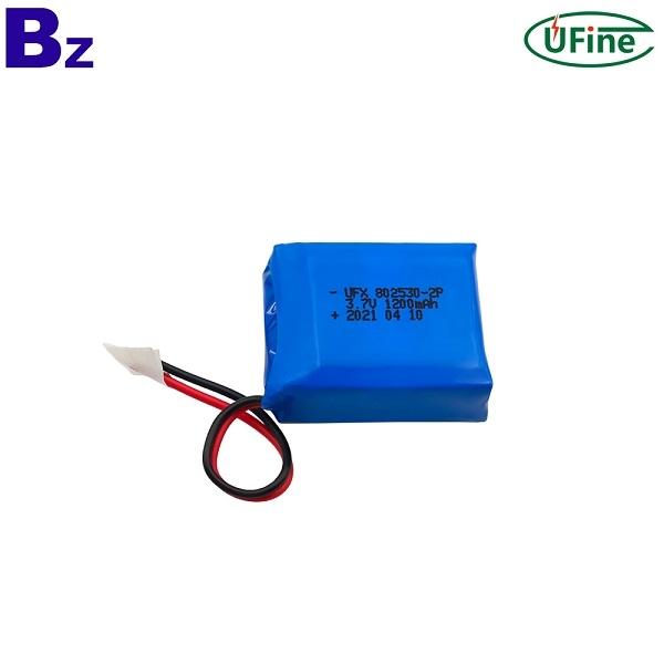 802530-2P 1200mAh 3.7V鋰離子聚合物電池組