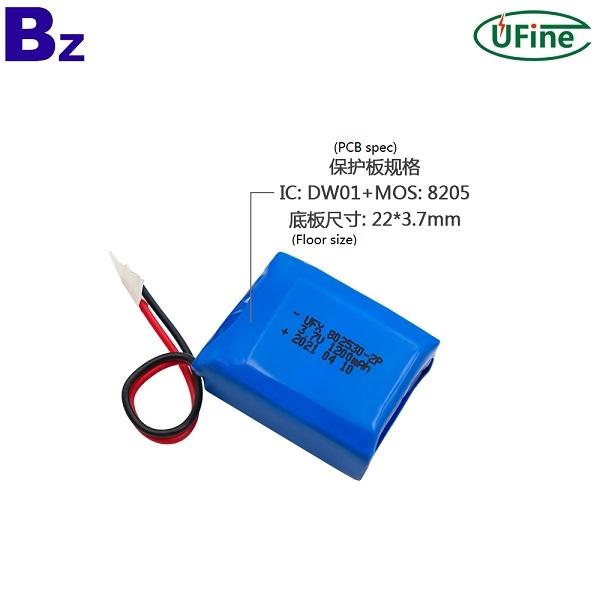 藍牙耳機1200mAh 3.7V鋰離子聚合物電池組