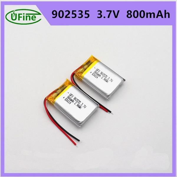 902535 800mAh 3.7V鋰聚合物電池