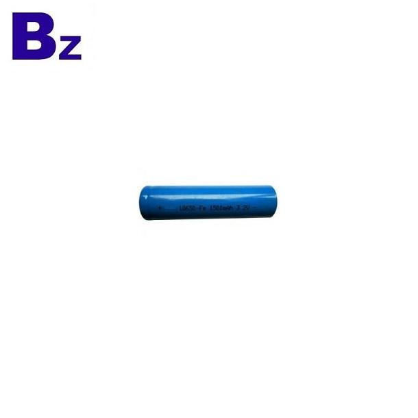 18650 1500mAh 3.2V可充電LiFePO4電池